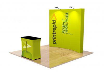 Velcro Fabric Pop Up Display – Curved