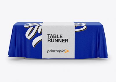 Table Solid Color Throw + Runner