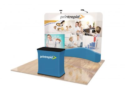 Tension Fabric Display – Curved